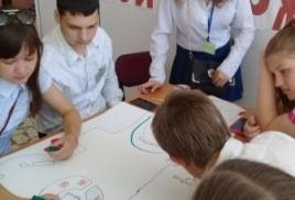 18 июня ребята нашей школы приняли участие в традиционном « Слете лидеров»